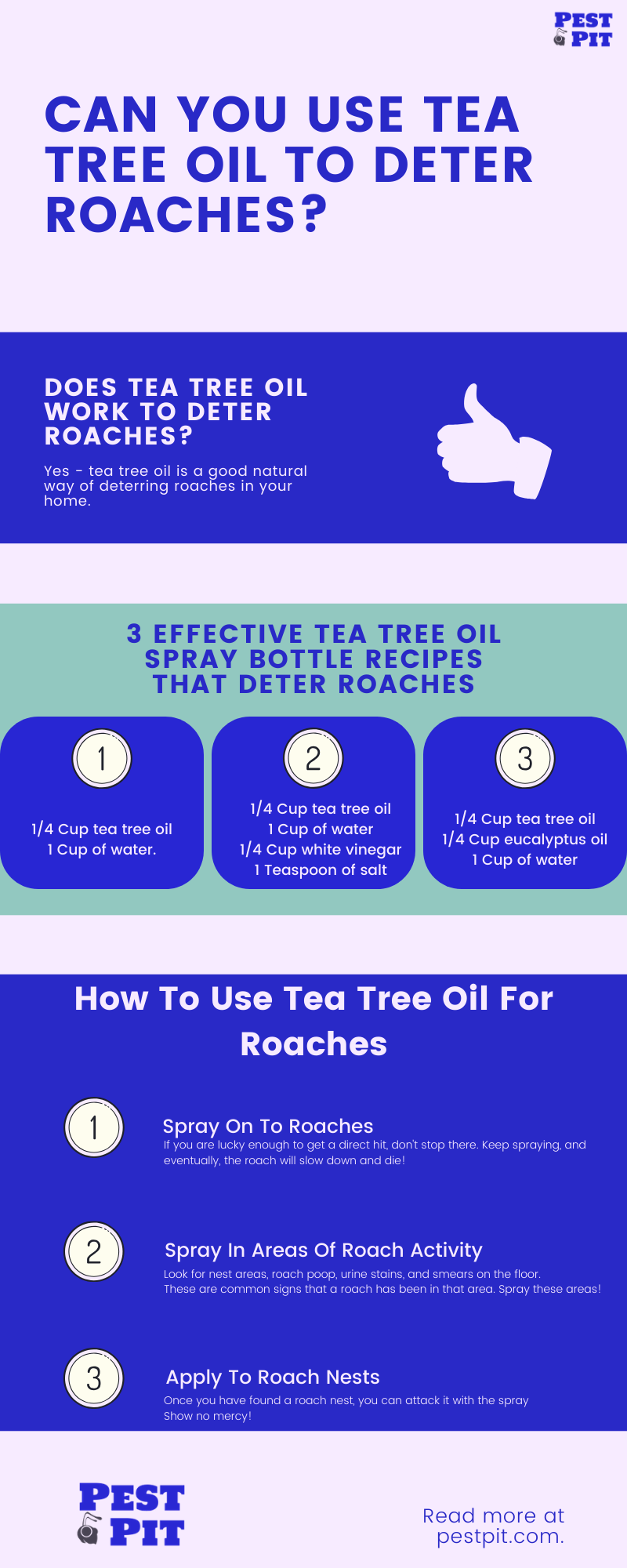 Can You Use Tea Tree Oil To Deter Roaches Infographic