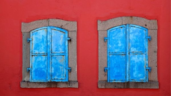 two closed windows